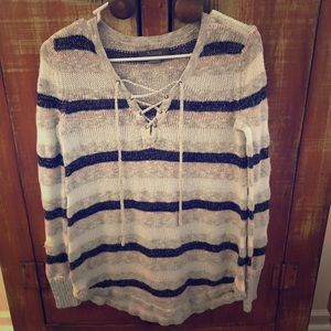 Natural Reflections women's striped sweater